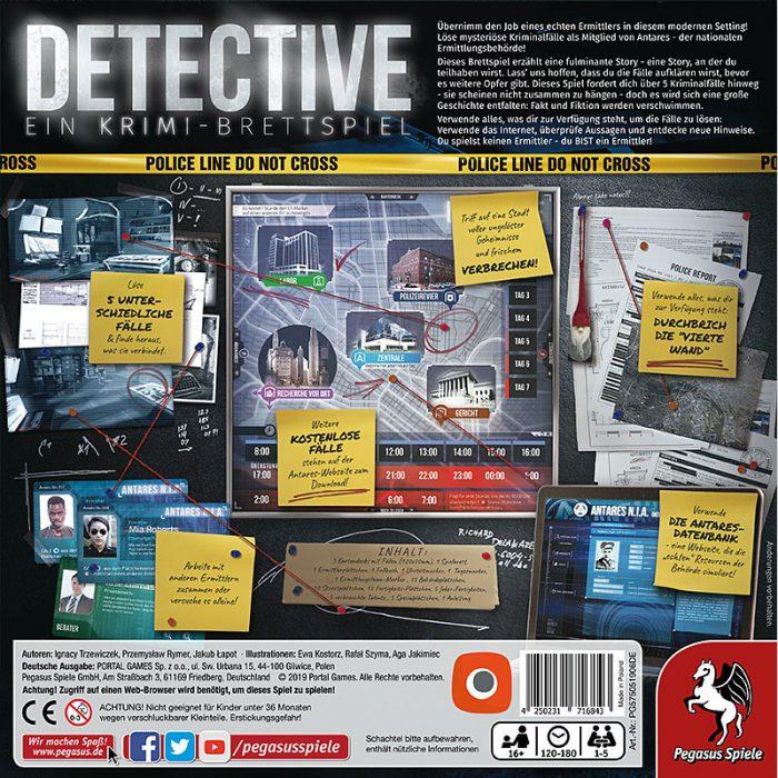 Detective Schachtelrückseite