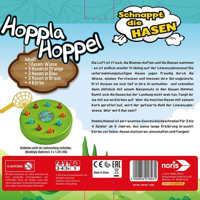 Schachtelrückseite von Hoppla Hoppel