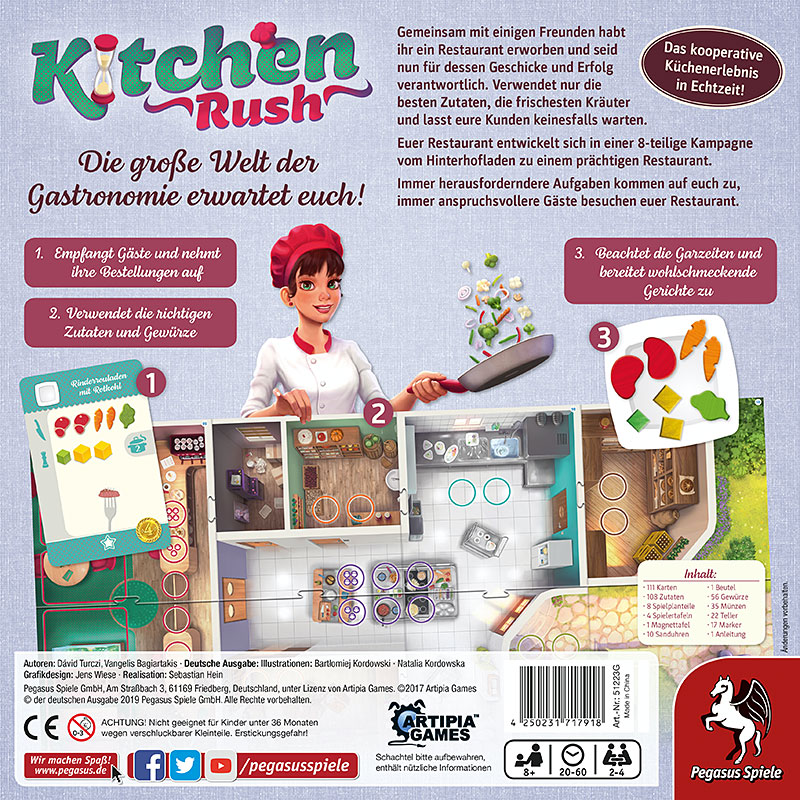 Kitchen Rush Schachtel Rückseite